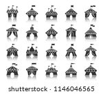 circus tent silhouette icons... | Shutterstock .eps vector #1146046565