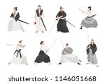 collection of samurai isolated... | Shutterstock .eps vector #1146051668
