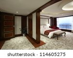 Stock photo hotel guest room interiors 114605275