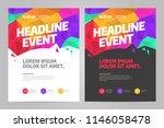 vector layout design template... | Shutterstock .eps vector #1146058478