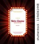 red frame with light bulbs on... | Shutterstock .eps vector #1146061448