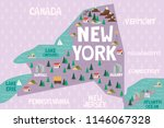 illustrated map of the state of ... | Shutterstock .eps vector #1146067328