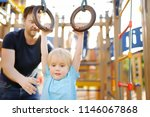 little boy having fun on... | Shutterstock . vector #1146067868