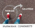 way out of the problem. feet ... | Shutterstock . vector #1146068375