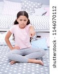 get out of my room. girl child... | Shutterstock . vector #1146070112