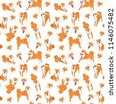shiba inu pattern dog poses dog ... | Shutterstock .eps vector #1146075482