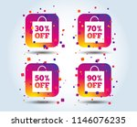 sale bag tag icons. discount... | Shutterstock .eps vector #1146076235