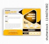 horizontal conference flyer... | Shutterstock .eps vector #1146076382