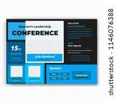 horizontal conference flyer...   Shutterstock .eps vector #1146076388
