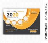 horizontal conference flyer... | Shutterstock .eps vector #1146076412