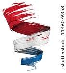 3d brush paint stroke swirl in...   Shutterstock . vector #1146079358