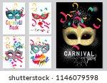 happy carnival festive concept...   Shutterstock .eps vector #1146079598