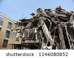 a ruined building over sky | Shutterstock . vector #1146080852