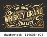vintage old design. whiskey... | Shutterstock .eps vector #1146084605