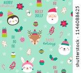 seamless of cute cartoon... | Shutterstock .eps vector #1146088625