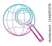 degraded line global network... | Shutterstock .eps vector #1146092378