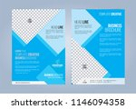 blue and white business... | Shutterstock .eps vector #1146094358
