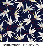 vector stock flowers pattern on ...   Shutterstock .eps vector #1146097292