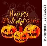 halloween card with place for... | Shutterstock .eps vector #114610285