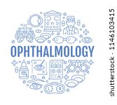 ophthalmology  eyes health care ... | Shutterstock .eps vector #1146103415