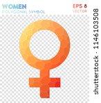 female polygonal symbol ... | Shutterstock .eps vector #1146103508