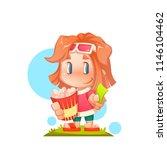 vector illustration of cute... | Shutterstock .eps vector #1146104462