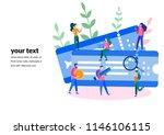 vector illustration buying... | Shutterstock .eps vector #1146106115