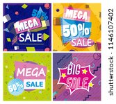 set of big and mega sale posters | Shutterstock .eps vector #1146107402
