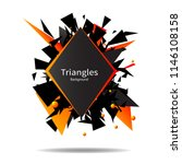 black and red triangles ... | Shutterstock .eps vector #1146108158