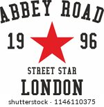 abbey road london graphic... | Shutterstock .eps vector #1146110375