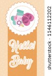 hello baby card | Shutterstock .eps vector #1146112202