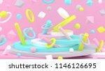 3d background. abstract... | Shutterstock . vector #1146126695