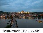 prague  czech republic. charles ... | Shutterstock . vector #1146127535
