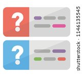 a web page with question marks... | Shutterstock .eps vector #1146135545