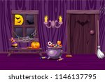 purple vector house ... | Shutterstock .eps vector #1146137795