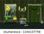 green vector house ... | Shutterstock .eps vector #1146137798
