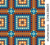 geometric with native  tribal...   Shutterstock . vector #1146138605