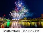 australia day fireworks in... | Shutterstock . vector #1146142145