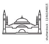 hagia sophia icon. istanbul... | Shutterstock .eps vector #1146144815