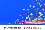 3d background. abstract... | Shutterstock . vector #1146145112