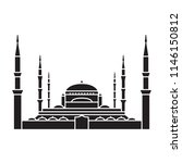 blue mosque istanbul icon.... | Shutterstock .eps vector #1146150812