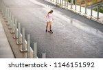 young beautiful blonde girl... | Shutterstock . vector #1146151592