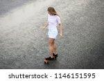 young beautiful blonde girl... | Shutterstock . vector #1146151595