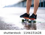 close up of young girl s legs... | Shutterstock . vector #1146151628
