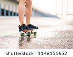 close up of young girl s legs... | Shutterstock . vector #1146151652