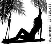 vector silhouette of girl... | Shutterstock .eps vector #1146151685