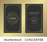 luxury business card and... | Shutterstock .eps vector #1146156938