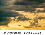 dramatic cloudscape on a summer ... | Shutterstock . vector #1146161195