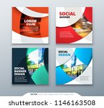 square banner templtes with... | Shutterstock .eps vector #1146163508