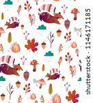 cute pattern for kids with... | Shutterstock .eps vector #1146171185